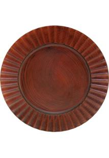 Sousplat Mimostyle Light Wood Marrom