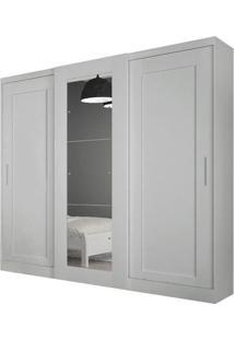 Guarda-Roupa Suécia Com Espelho - 3 Portas - 100% Mdf - Branco