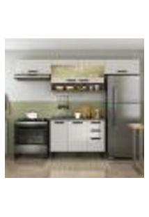 Cozinha Compacta New Jazz I 7 Pt 2 Gv Off White E Freijó