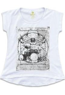 Camiseta Cool Tees Rock Feminina - Feminino-Branco