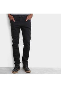 Calça Jeans Slim Zamany Escura Masculina - Masculino