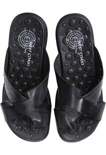 Chinelo Couro West Coast Block Masculino - Masculino