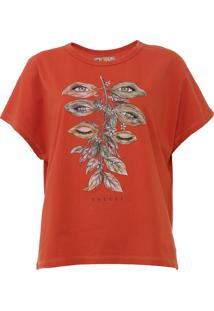 Camiseta Colcci Estampada Laranja - Kanui
