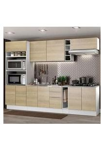Cozinha Completa Madesa Stella 290001 Com Armário E Balcão Branco/Saara Cor:Branco/Saara