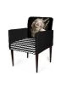 Cadeira Decorativa Sala Mademoiselle Plus Imp Digital 102 Marilyn