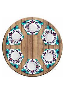 Jogo Americano Love Decor Para Mesa Redonda Wevans Mandala Color Kit Com 6 Pçs