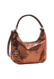 Bolsa Feminina Chenson Metalizado Glam Dourado 3483187