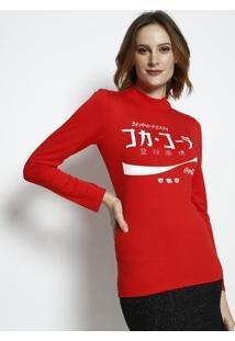 Blusa Coca-Colaâ® Com Aroma- Vermelha & Branca- Coca-Coca-Cola