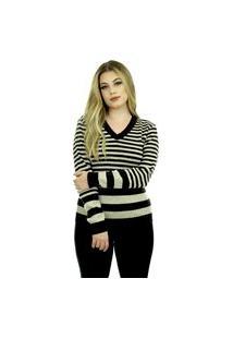 Blusa Tricot Feminina Mary Shopping Do Tricô Inverno Listrada