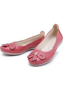 Sapatilha Top Franca Shoes Conforto Goiaba Feminina - Feminino-Vermelho Claro
