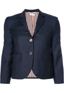 Thom Browne Blazer Cropped De Lã - Azul