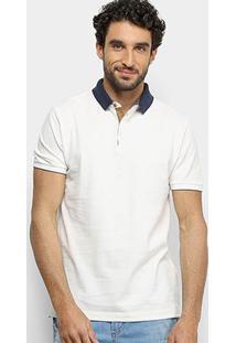 Camisa Polo Forum Básica Masculina - Masculino-Off White