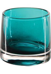 Castiçal Bianco & Nero Verde Claro 8,5X9Cm Verde
