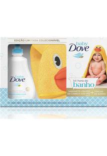 Kit Dove Baby Hidratação Enriquecida Sabonete Líquido 400Ml + Toalha De Banho Pato
