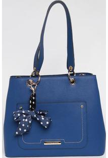 Bolsa Com Bag Charm - Azul - 27X33X14Cmloucos E Santos