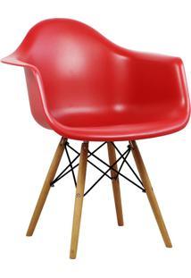 Cadeira Design Charles Eames Wood Vermelha Tl Cdd-05-5 Trevalla