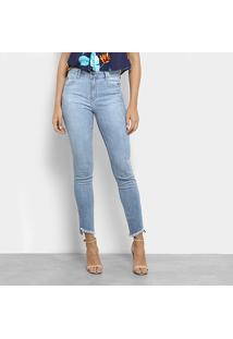 c684635d2 ... Calça Jeans Skinny Ellus Cintura Média Feminina - Feminino-Azul Claro