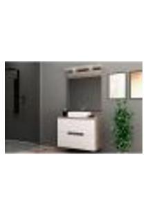 Conjunto Para Banheiro Com Led Roma 3 Gv Gianduia E Branco
