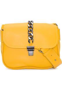 Bolsa Feminina Lingueta Corrente - Amarelo
