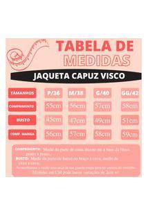 Jaqueta Viscolycra Com Capuz E Zipper Preto