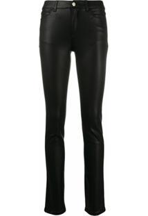 Emporio Armani Calça Jeans Skinny Cintura Média - Preto