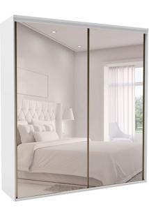 Guarda-Roupa Casal Com Espelho Luminum 2 Pt 6 Gv Branco