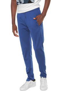 Calça Lacoste Slim Logo Azul