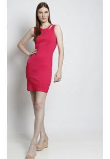 Vestido Com Recorte Vazado - Pink- Moiselemoisele