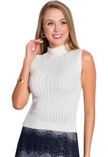 Blusa De Tricô Off White Moda Evangélica