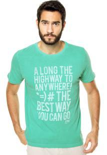 Camiseta Coca-Cola Jeans Reta Verde