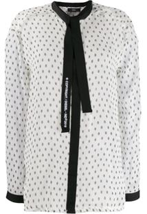 Diesel Blusa Com Amarração Frontal - Branco