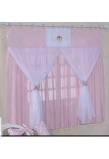 Cortina Para Quarto De Bebê Família Real Rosa