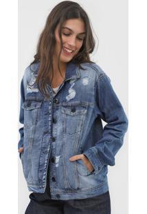Jaqueta Jeans Maria Filã³ Antifit Denim Azul - Azul - Feminino - Algodã£O - Dafiti
