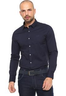 Camisa Calvin Klein Jeans Slim Fit Azul-Marinho