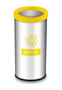 Lixeira Seletiva Brinox Com Aro Decorline Em Aço Inox - 40,5 L