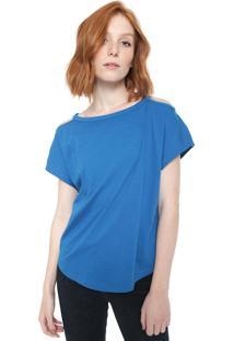 Camiseta Triton Recortes Azul