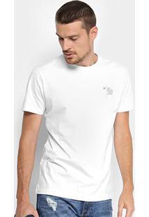 Camiseta Forum Estampa Posterior Logo Masculina - Masculino-Branco