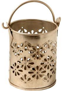 Vaso Decorativo De Metal Alpaca Kaveri Pequeno