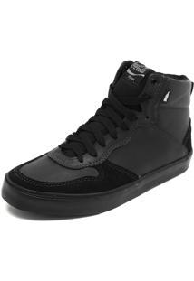 Sapatênis Coca Cola Shoes Recortes Preto