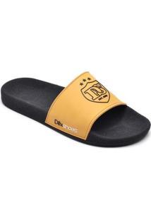 Chinelo Slide Dexshoes Masculino - Masculino-Amarelo