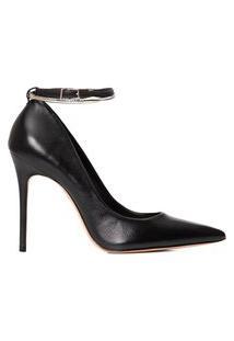 Sapato Feminino Scarpin Salto Alto Couro - Preto