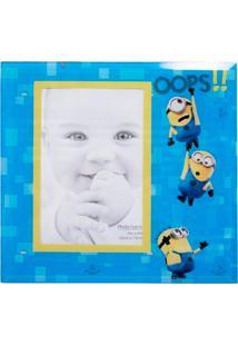 Porta Retrato Minas De Presentes De Vidro Oops - Minions Meu Malvado Favorito Azul