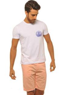 Camiseta Masculina Joss Logo New Port - Masculino-Branco