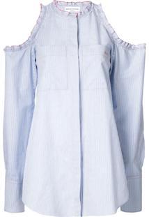 Sonia Rykiel Oversized Cut-Out Blouse - Azul