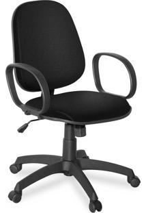 Cadeira Gerente Giratã³Ria Braã§O Corsa Pr Preta - Preto - Dafiti