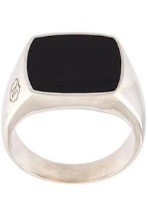 Nialaya Jewelry Anel De Prata De Lei - Cinza