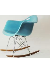 Cadeira Eames Dar Balanço (Fibra De Vidro) Azul Claro