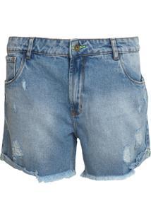 Bermuda Jeans My Favorite Thing(S) Reta Estonada Azul