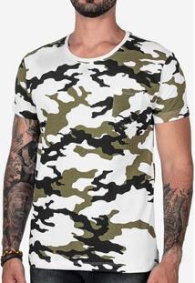 Camiseta Camuflada Branca 102422