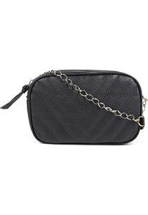 Bolsa Shoestock Crossbody Box Matelassê Feminina - Feminino-Preto